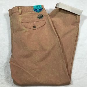 NWT DOCKERS UO acid wash pleated pant orange 32x29